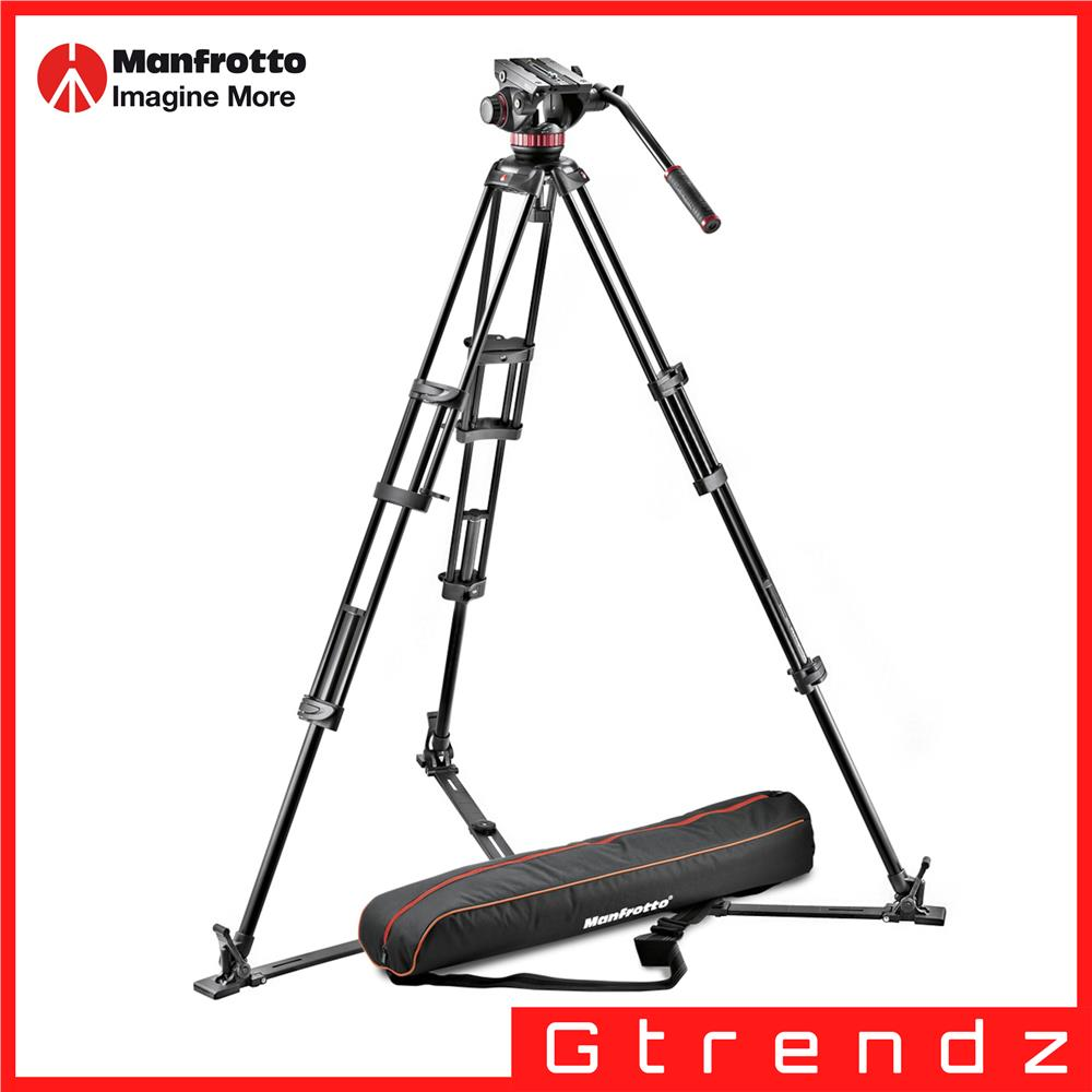 Manfrotto MVH502A,546GB-1 fluid video head & alu twin leg tripod