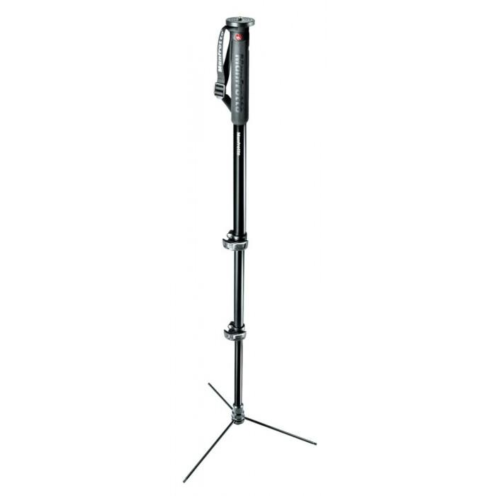 Manfrotto XPRO 3 Section Photo Monopod Aluminum Retractable Base