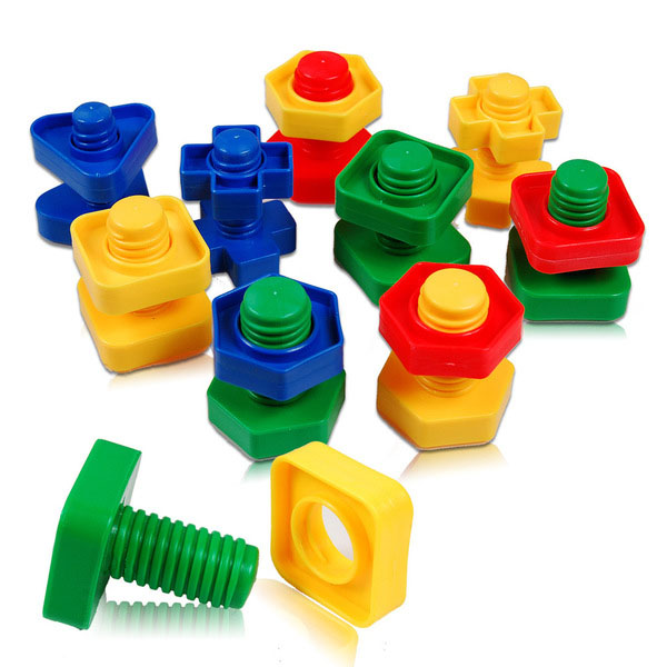 Manipulative Educational Toys : Manipulative toys nuts bolts end pm