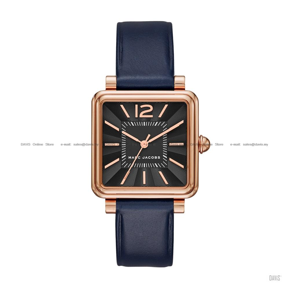 ed0ab4241a7e8 MARC BY MARC JACOBS MJ1523 Vic Square Leather Strap Black Navy. ‹ ›