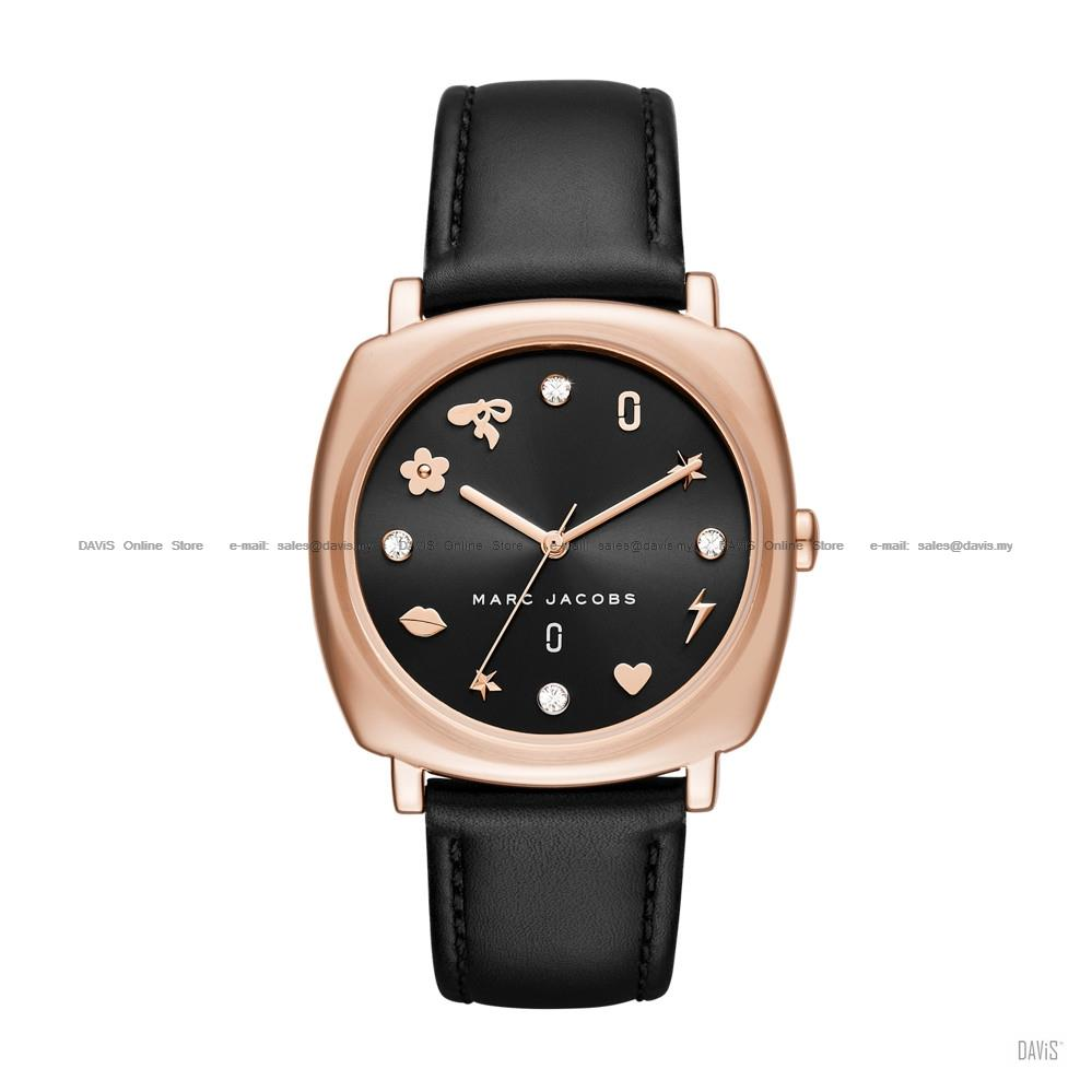 0383d811098 MARC BY MARC JACOBS MJ1565 Mandy Glitz Square Leather Black Rose Gold. ‹ ›