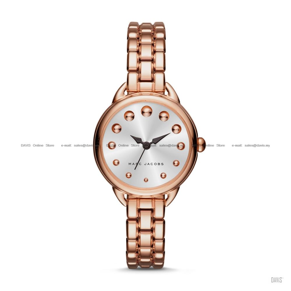 73281c6e67c17 MARC BY MARC JACOBS MJ3496 Betty 3-hand Dome Studs Bracelet Rose Gold. ‹ ›