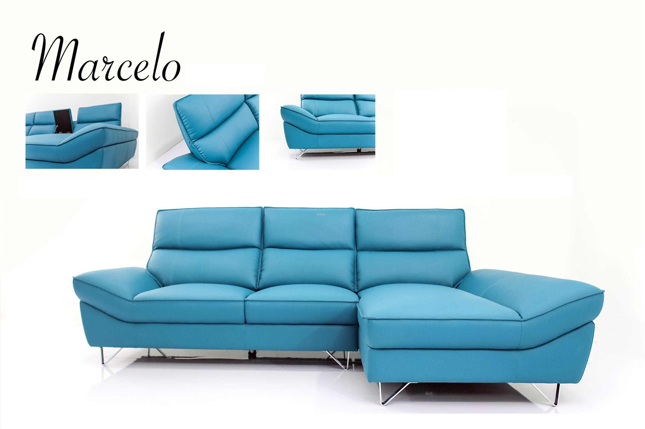 Marcelo l shape rubica leather sofa end 8 16 2017 1 15 pm for Sofa chair malaysia