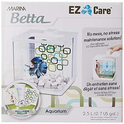Marina Betta EZ Care Aquarium - White - 2.5 L (0.7 US Gal)