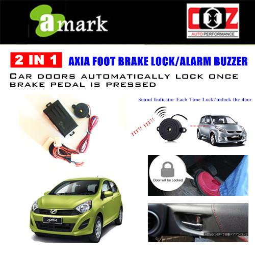 A-MARK ALARM BUZZER + FOOT BRAKE LOCK PERODUA AXIA ADVANCE SPEC