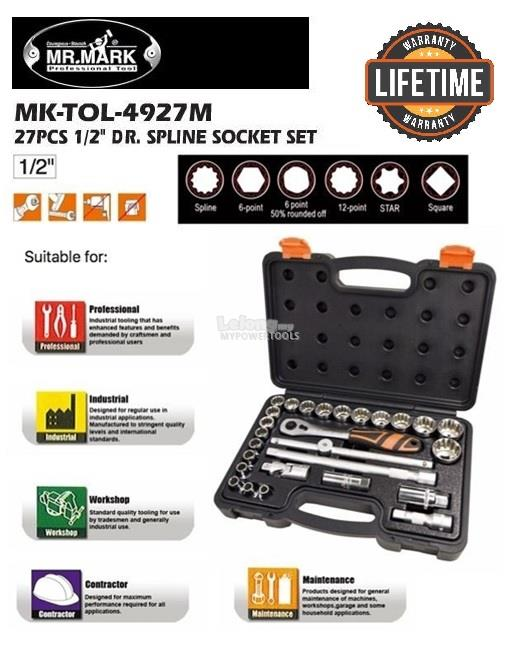 Mr. Mark Professional 27pc Spline Socket Set