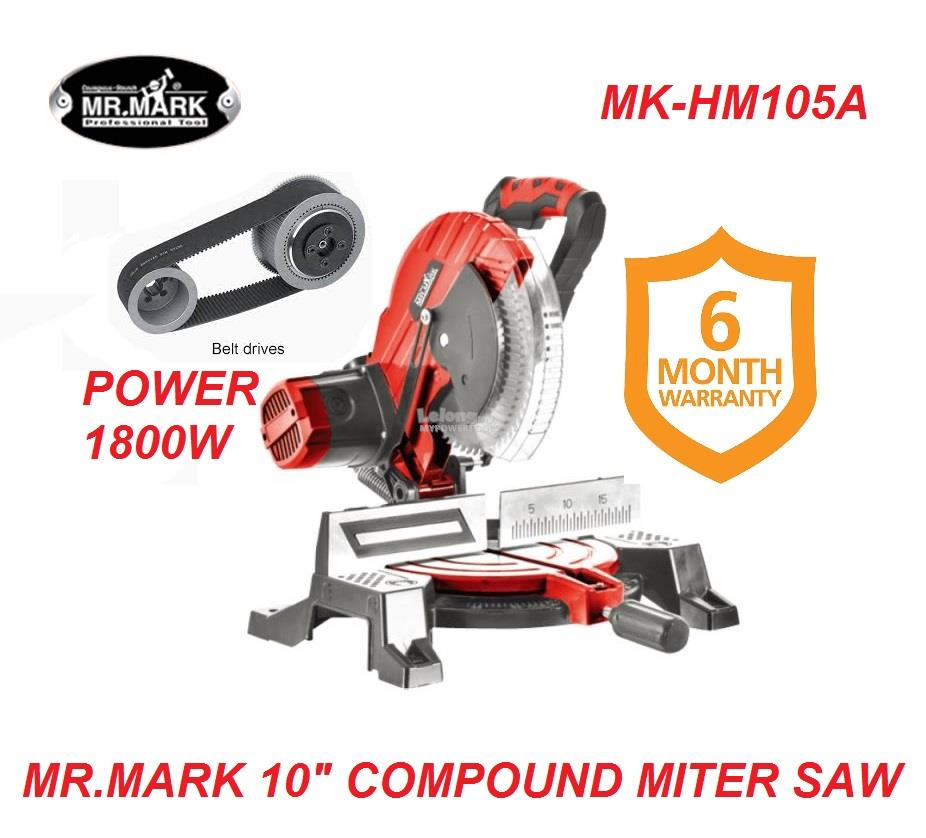 Mark-X HM105A (1.8kW) 10' Belt-Driven Miter Saw