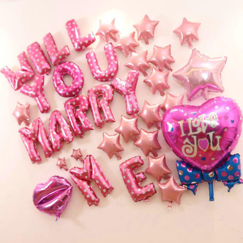 'WILL YOU MARRY ME' Foil Balloons Wedding Party Purpose Decorations