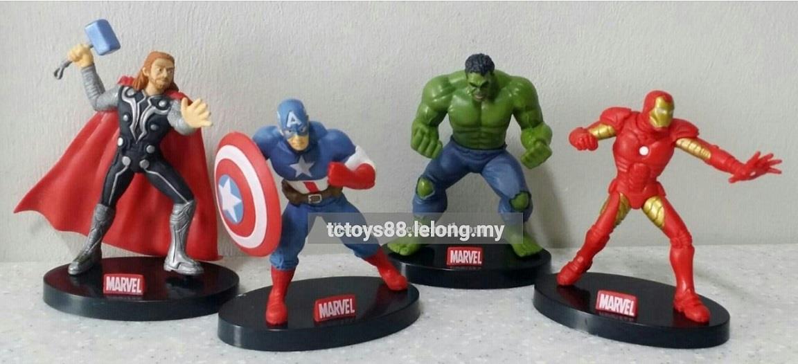 e6be79f9c5a Marvel Avenger Ironman Hulk Thor Captain America Figure   Cake Topper.