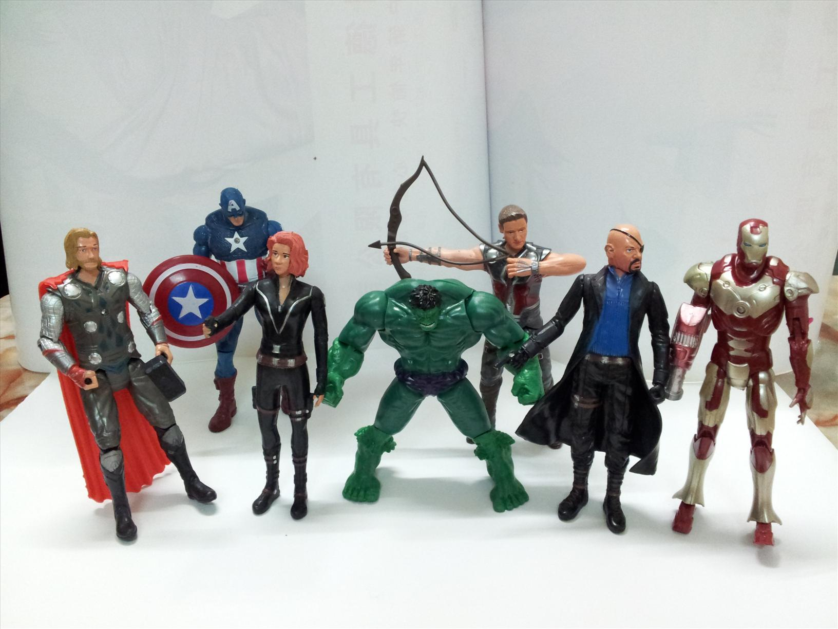 Marvel Avengers Action Figures 7pcs Set