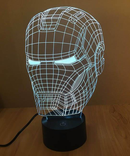 Marvel Iron Man LED Lamp 3D Night Light