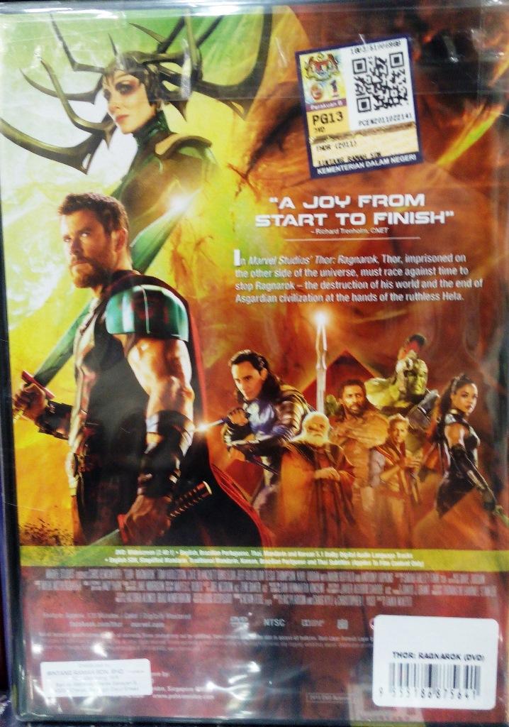 Thor Ragnarok Dvd Game And Movie