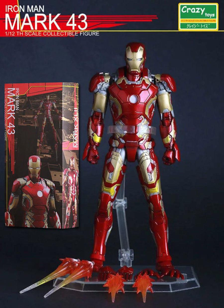 Marvel Universe Iron Man Mark 43 Action Figures Crazy Toys 15cm