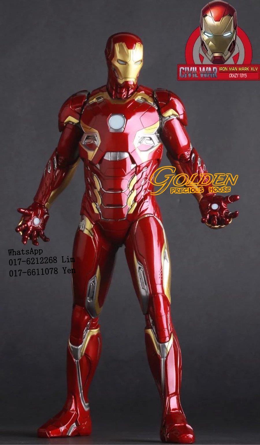 Marvel Universe Iron Man Mark Mk45 Action Figures Crazy Toys 30cm
