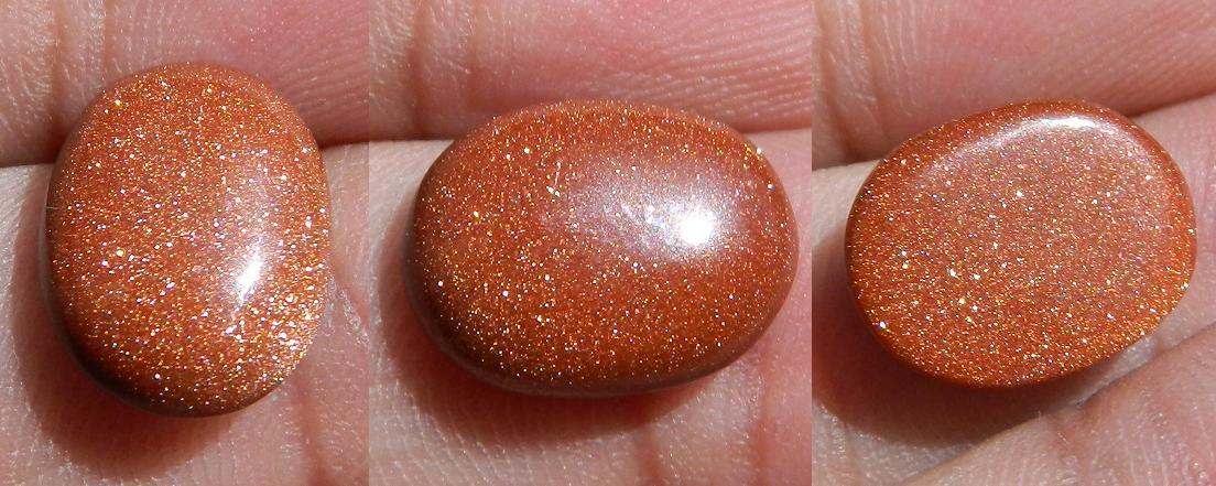 Marvelous Sun stone (Gold dust) crystal cabochon - 4.20CT BL36