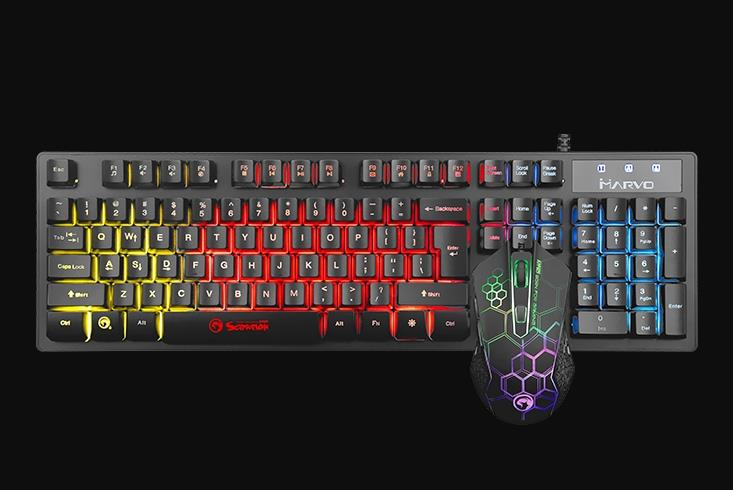 MARVO SCORPION GAMING KEYBOARD & MOUSE COMBO KM409