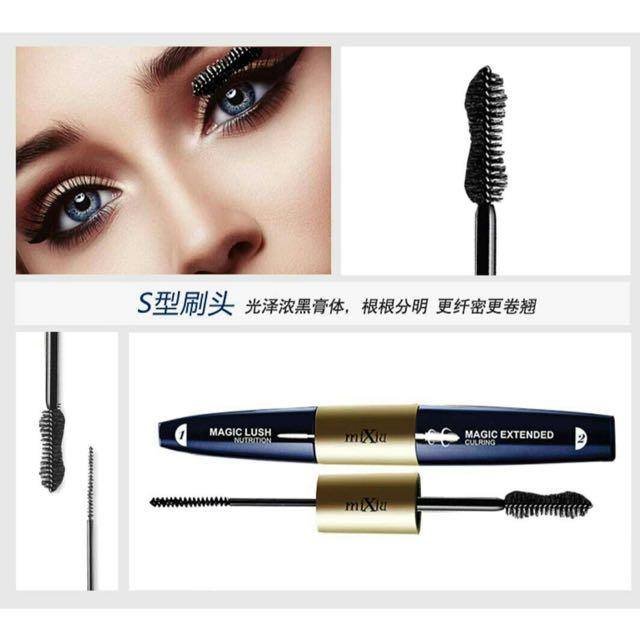 Mascara Anzalna Waterproof 2 in 1 Dual Original Korea : MIXIU