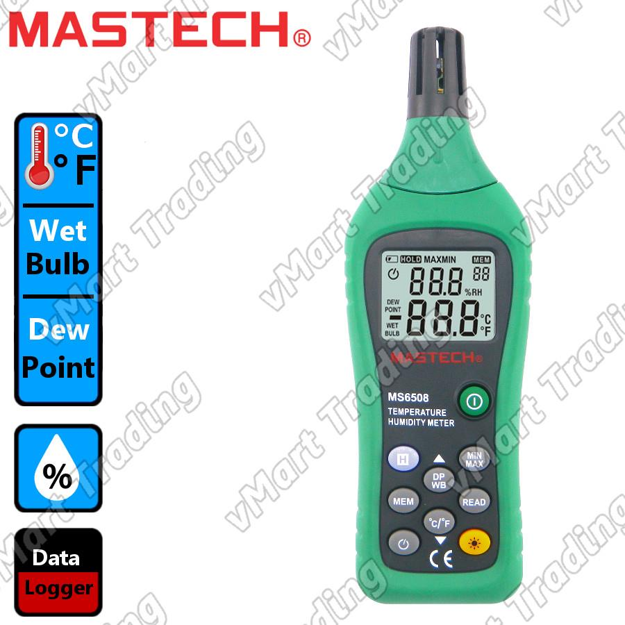MASTECH MS6508 Professional Hygrometer Thermometer