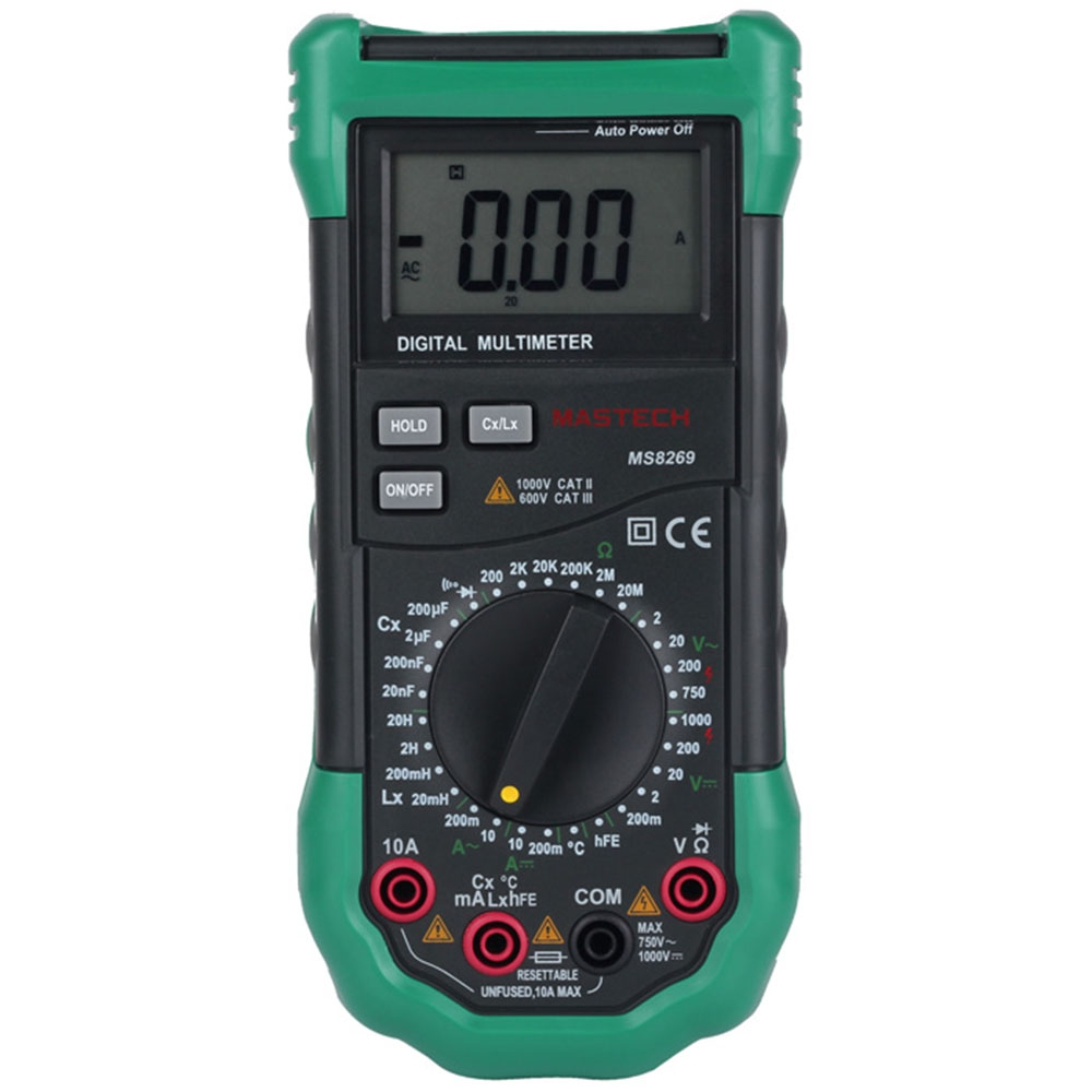 MASTECH MS8269 DIGITAL MULTIMETER FOR AC / DC VOLTAGE / CURRENT / RESI..