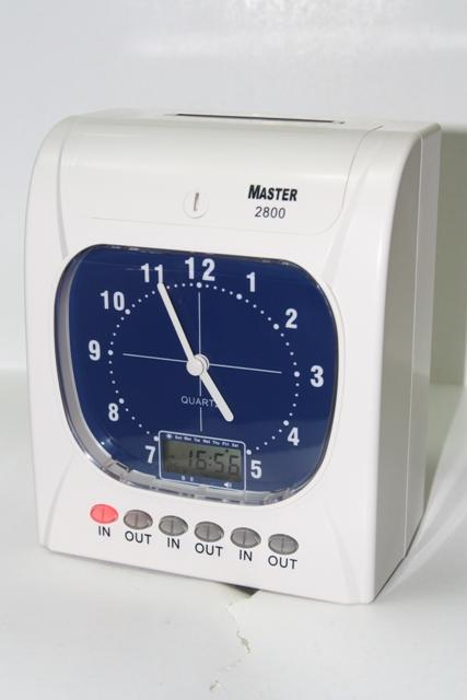 Master Electronic Time Recorder / Punch Card Machine