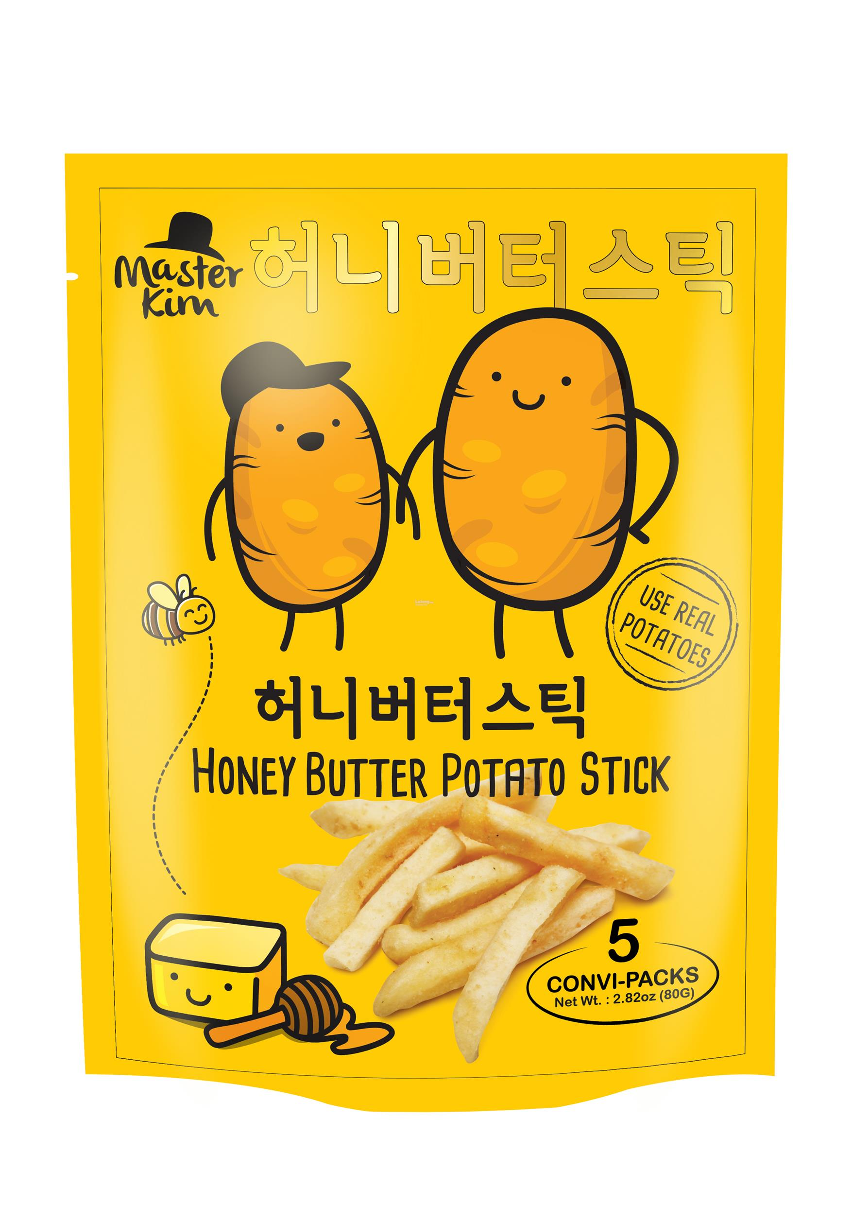 MASTER KIM HONEY BUTTER POTATO STICKS -16g x 5sachets