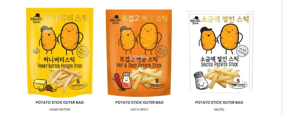 MASTER KIM HOT & SPICY POTATO STICKS -16g x 5sachets