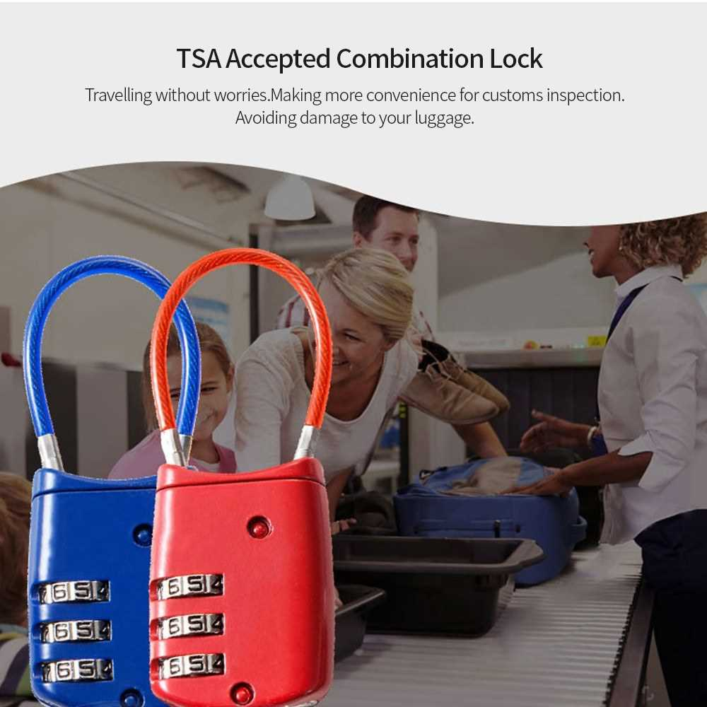 Master Lock TSA Accepted Lock Luggage Briefcase Padlock (Red)