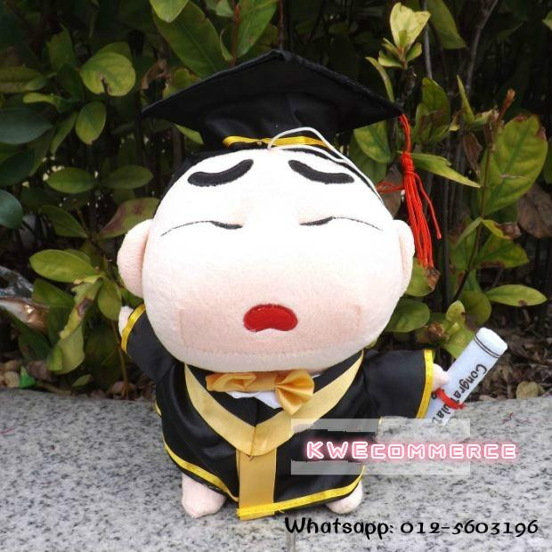 Master's Degree Graduation Bear Plush Toy Doll Gift 20cm Sinchan