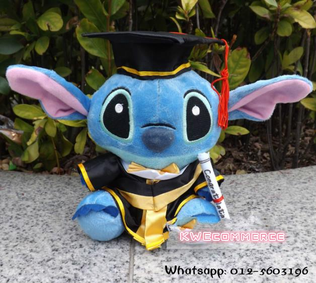 Master's Degree Graduation Bear Plush Toy Doll Gift 20cm Stitch