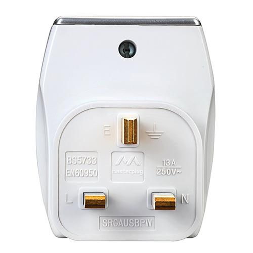 Masterplug 2*USB 2.1A Port + 3-Pin Adapter (SRGAUSPW2-MP)