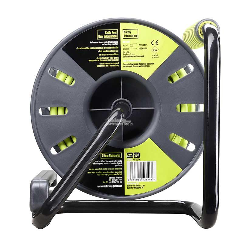 MasterPlug 4 socket x 25 Metres Open Cable Reel