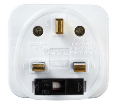 MASTERPLUG VISITOR TO UK ADAPTER, TAVUK-MP