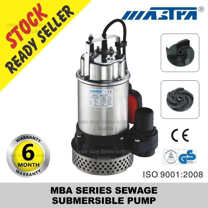 MASTRA MBA (AUTO) SERIES SEWAGE  SUBMERSIBLE PUMP