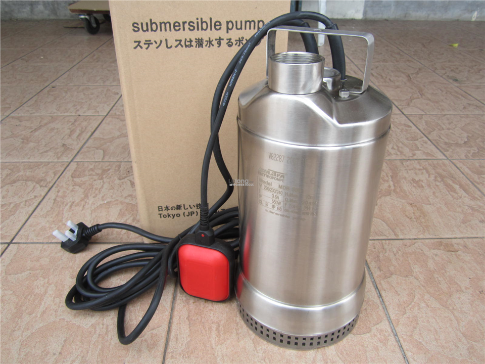 Mastra MDB 550W 20m3/hour Float S/Steel Submersible Sewage Pump