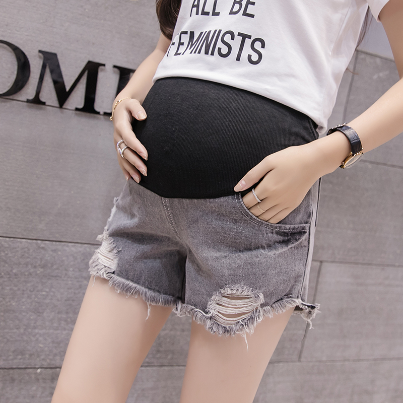 465808613e Maternity Clothing Shorts Women Denim Comfortable Pregnancy Wear Stoma
