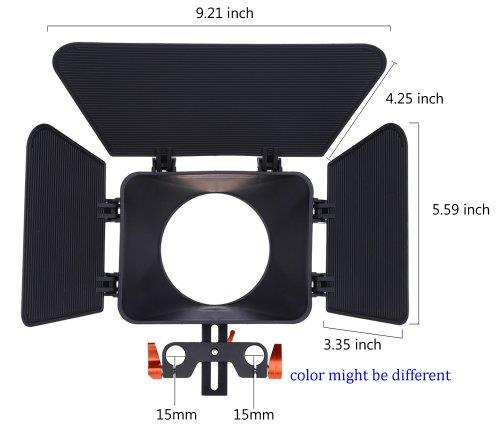 Matte Box for DSLR Video Rig Standard 15MM Rod YM10
