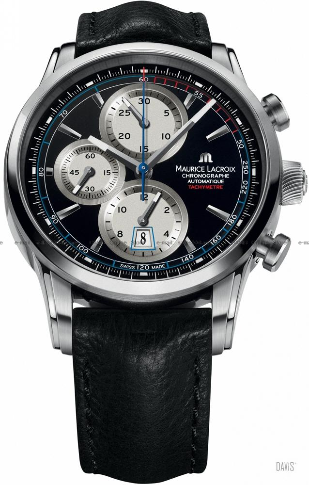 MAURICE LACROIX PT6288-SS001-330 Pontos Chrono Retro Leather Black