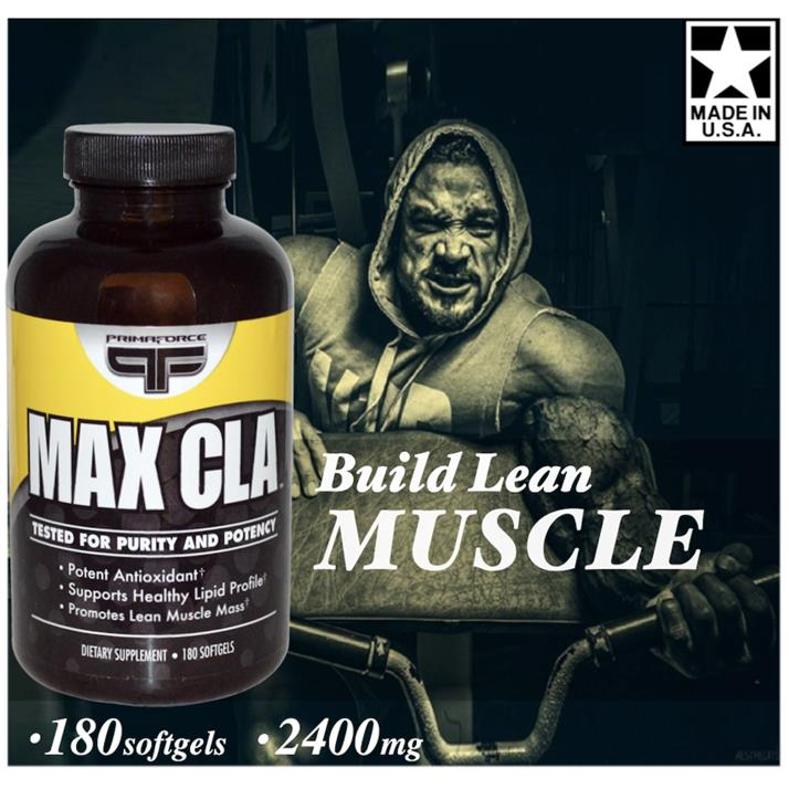 Max CLA 2400mg, 180 Softgels (Burn Fat, Build Muscle, Whey, Amino) USA