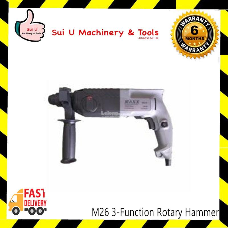 Max M26 3-Function Rotary Hammer 800w 26mm