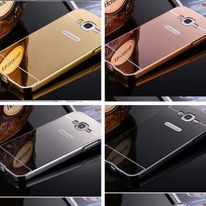 Max Metal Bumper Mirror Case Vivo V3 Max Y15 Y22 Y51 FOC Tempered Glas