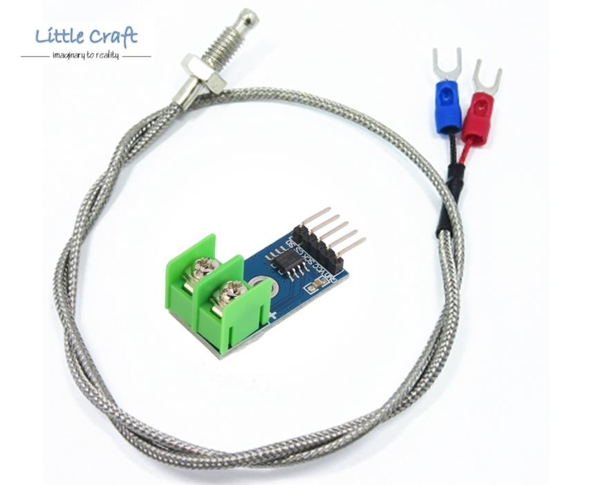 MAX6675 Temperature Sensor Module + Type K Thermocouples For Arduino