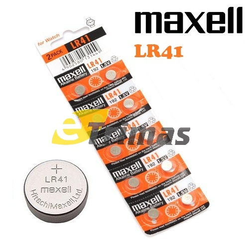 Maxell Japan LR41 AG3 LR736 392A 192 SR41 Watch Button Coin Cell Battery (10PC. ‹ ›