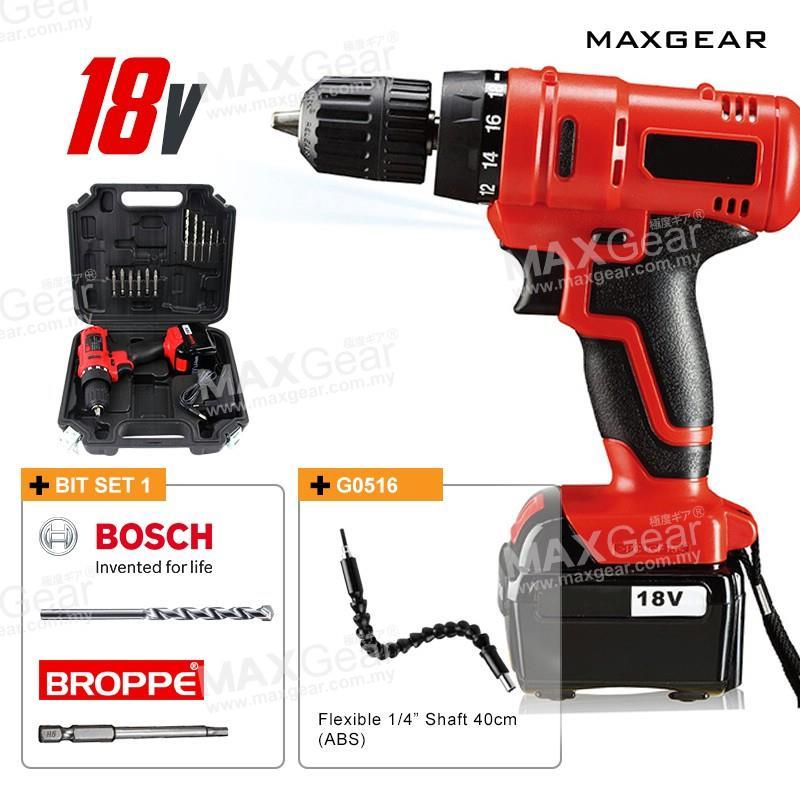 f9498c55ffa0b MAXGEAR Bosch IKEA Hex Bit 18V Rechargeable Cordless Screwdriver Drill. ‹ ›