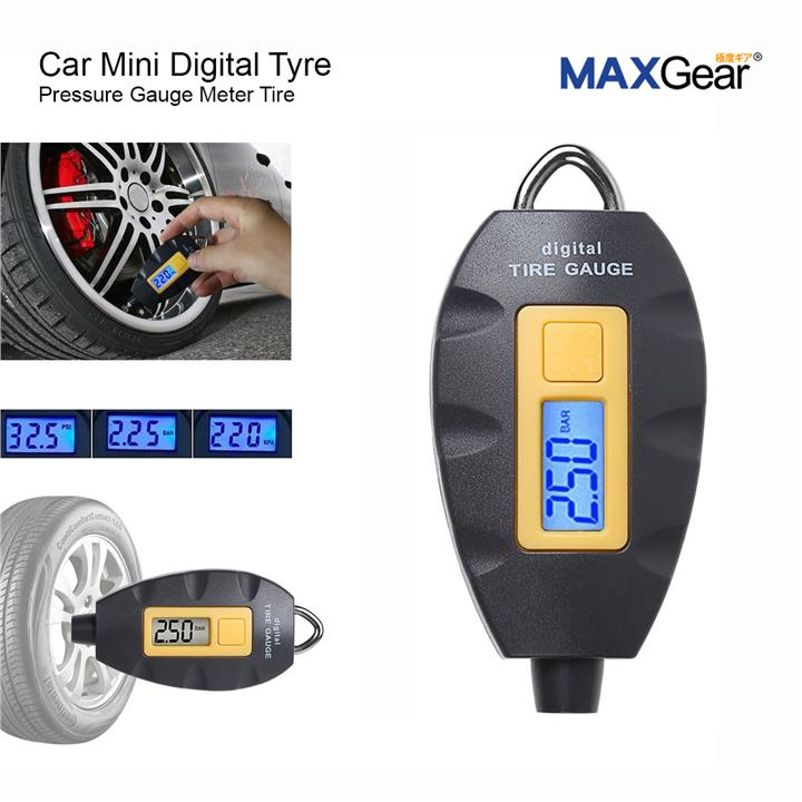 MAXGear Car Mini Digital Tyre Pressure Gauge Meter Tire