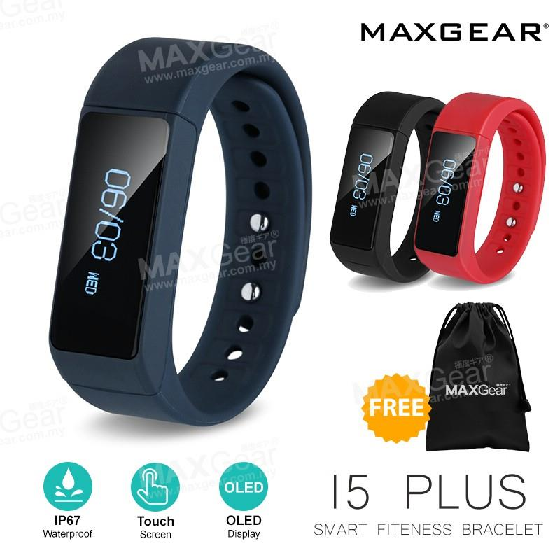 MAXGEAR I5 Plus Waterproof Bluetooth Smart Watch Wristband Android IOS