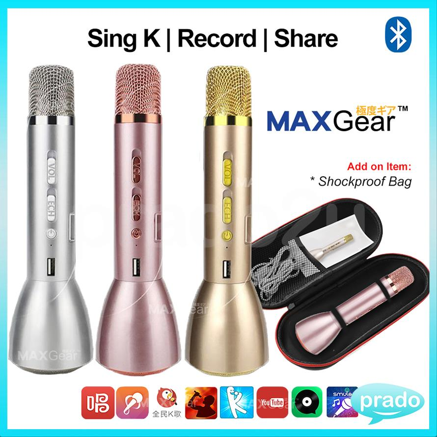 MAXGear Karaoke KTV Mic Bluetooth Speaker Microphone Sing Record App