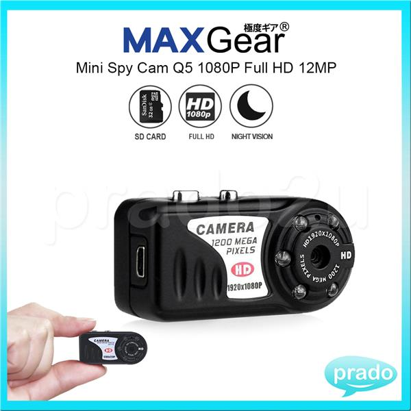 MAXGear Mini Spy Cam Q5 1080P Full HD 12MP Night Vision Hidden Camera