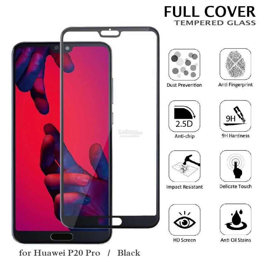 huge discount 4eb5c 32a33 MAXGUARD~Huawei P20 / P20 Pro 2.5D Full Cover Curved Tempered Glass