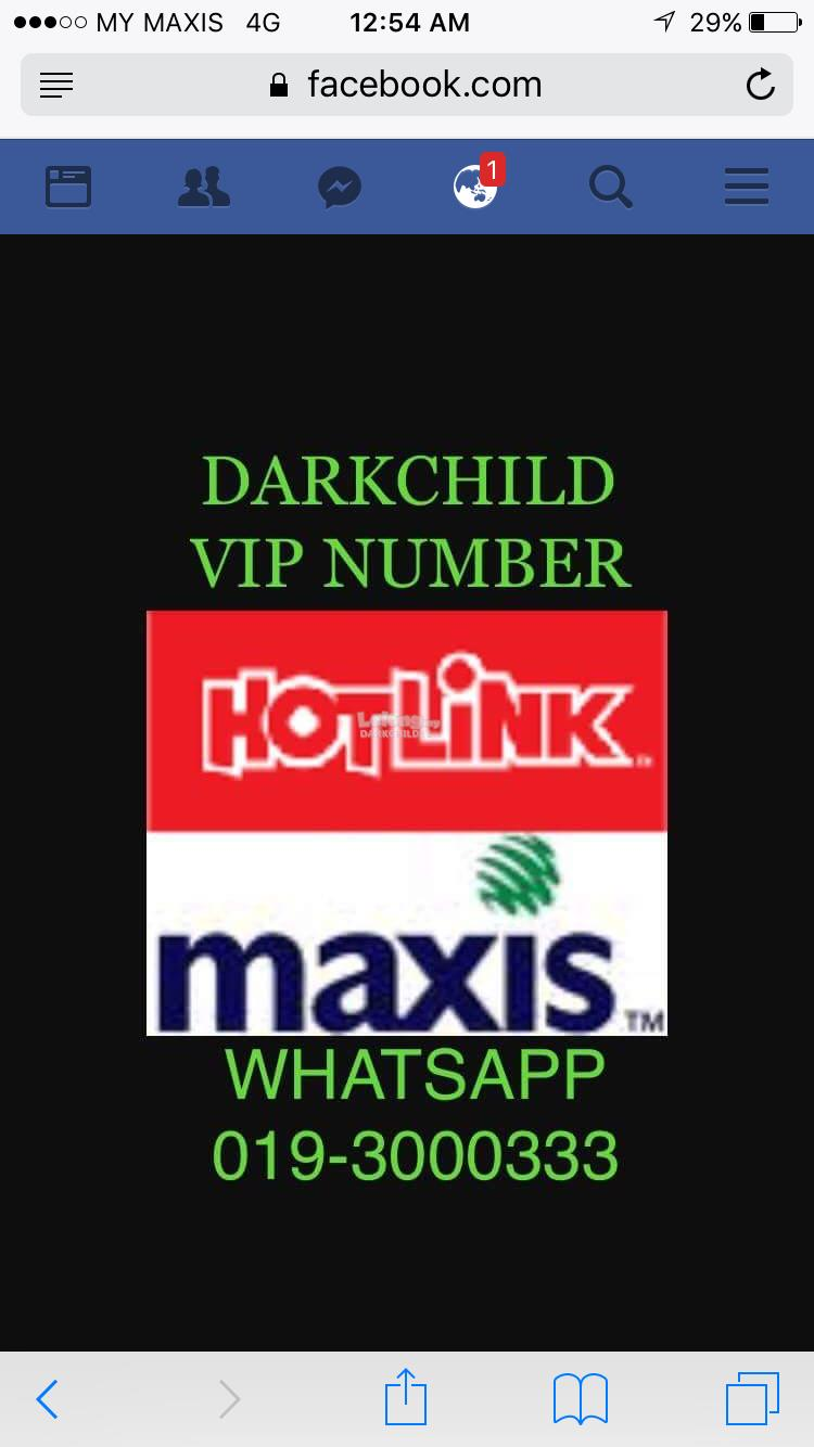 NEW MAXIS HOTLINK VIP NUMBER FOR SALE!! UPDATED 01/10/2018