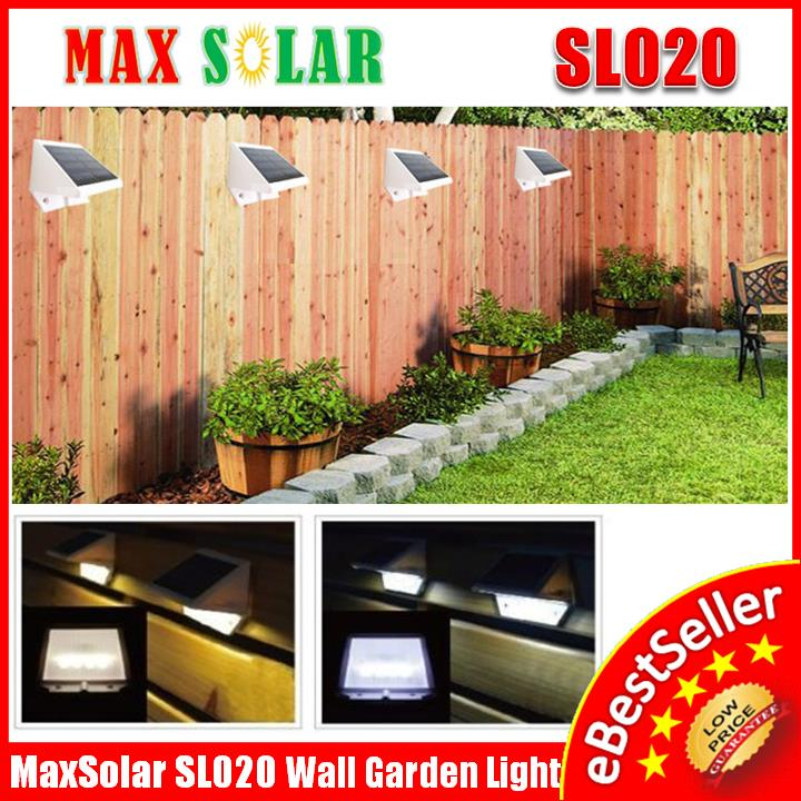 MaxSolar SL020 4x LEDs Solar Powered Stairs Pathway Garden LED Light